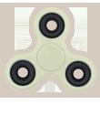 Handspinners personnalisés blanc phosphorescent
