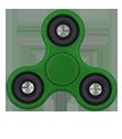 Hand Spinner personnalisable vert